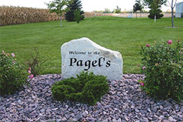 Pagel's carved rock