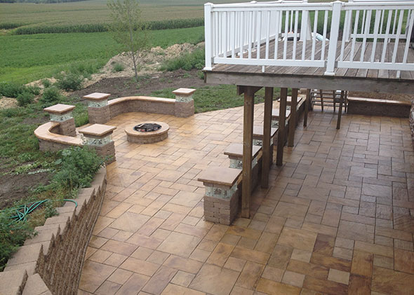 Sealed Tile Patio