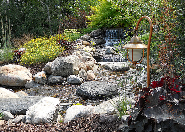 Water features ponds streams thomas tree amp landscape